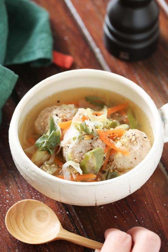 鶏団子ネギ塩スープ4