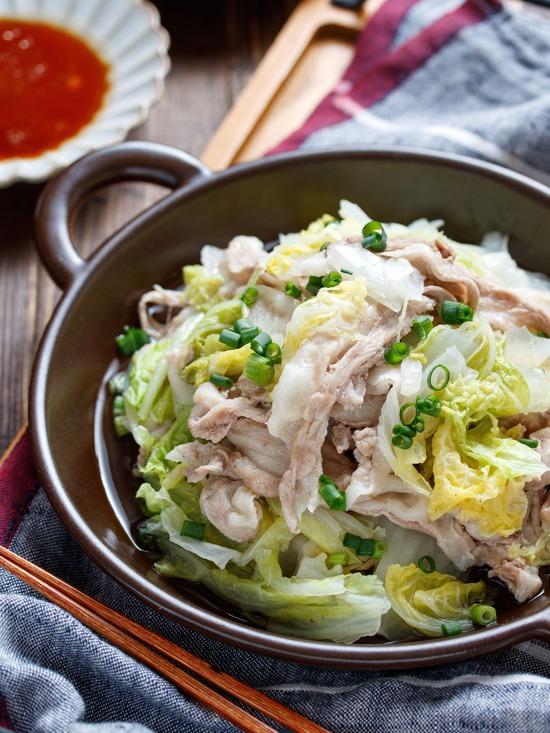豚バラ白菜重ね蒸し6