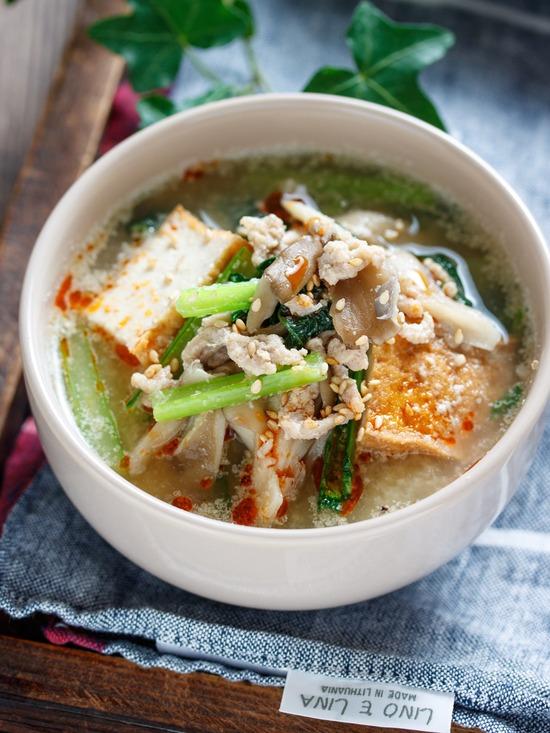 小松菜舞茸スープ6