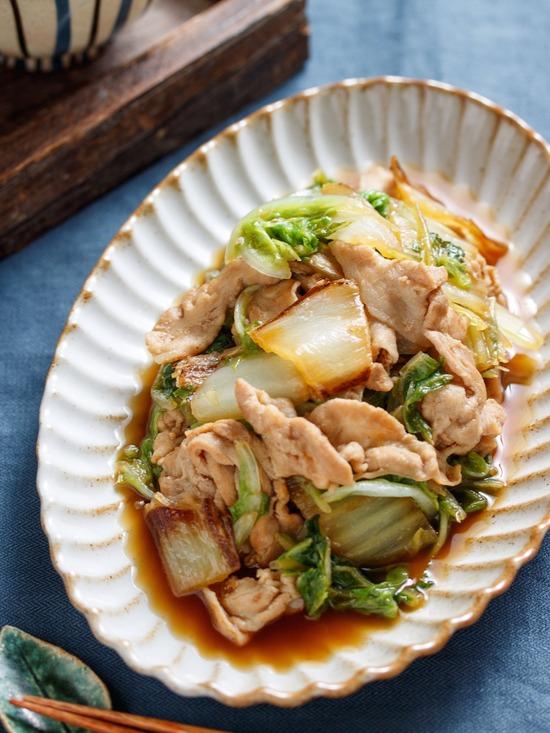 豚バラ焼き白菜6