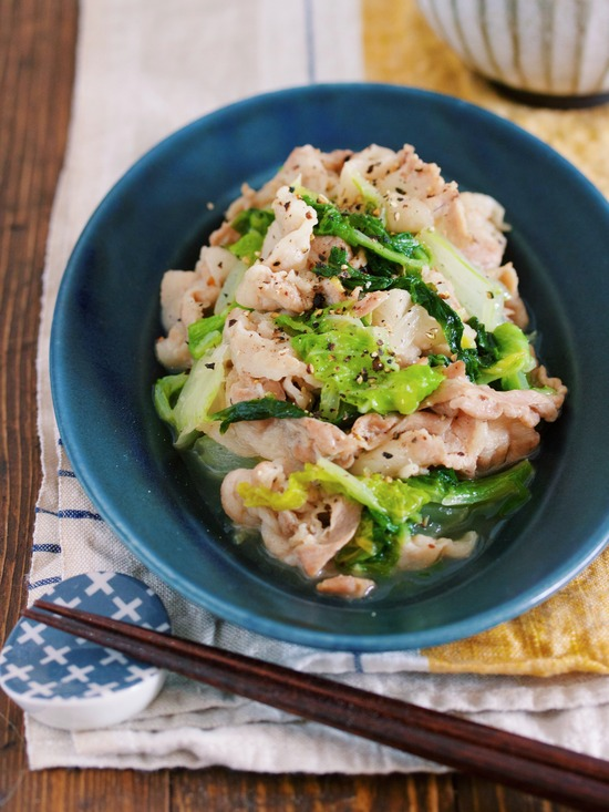 豚バラ白菜塩バター3