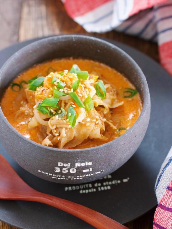 豆乳キムチスープ12