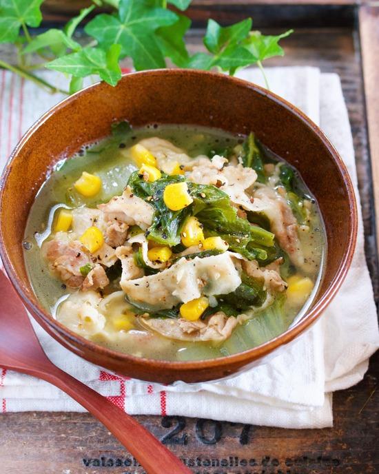 味噌バタースープ7