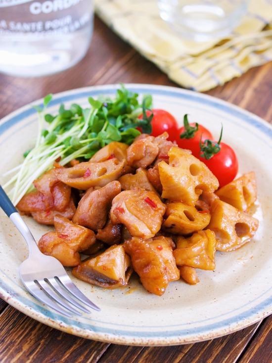 鶏肉レンコン甘辛16