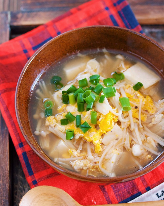 えのき豆腐スープ5