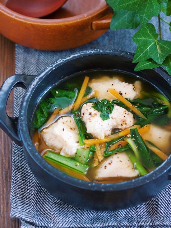 むね肉小松菜スープ10
