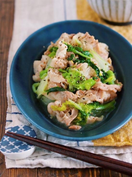豚バラ白菜塩バター10