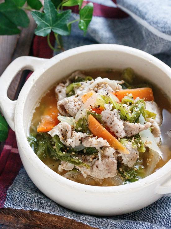 豚こま白菜スープ5