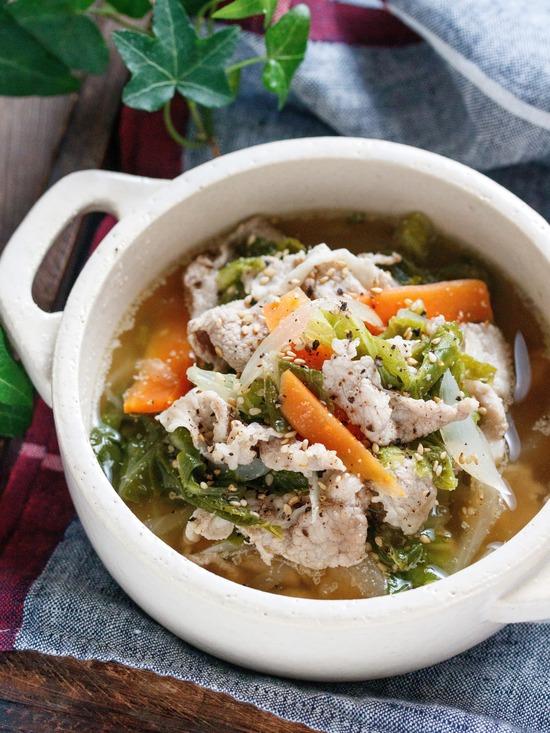 豚こま白菜スープ8