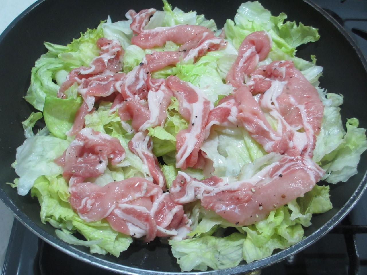 豚肉 レタス