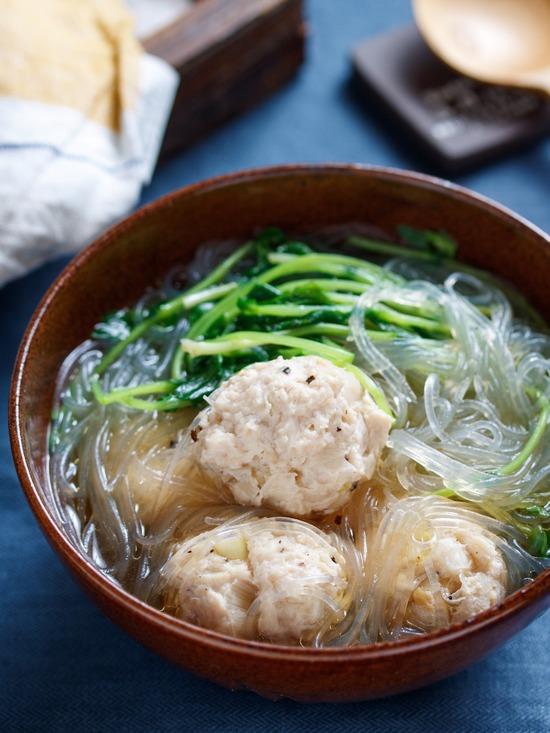 豆苗春雨スープ3