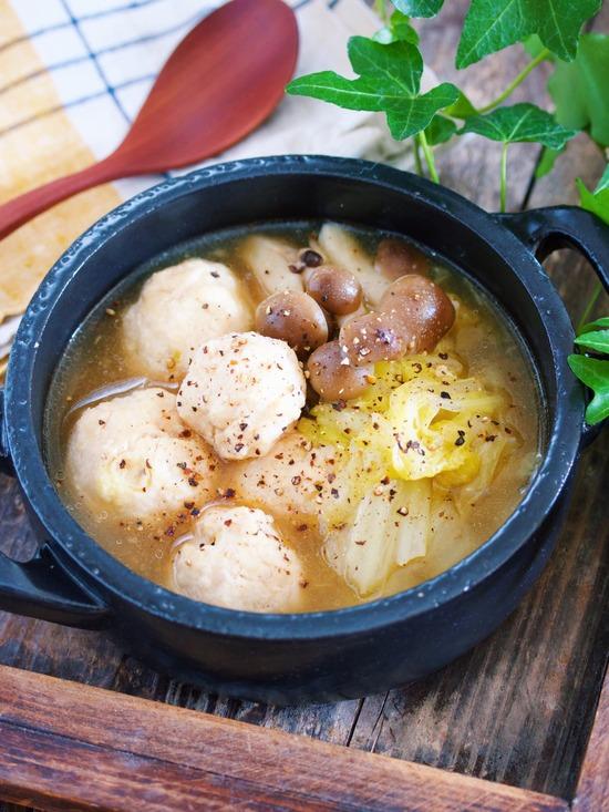 鶏団子白菜とろみスープ12