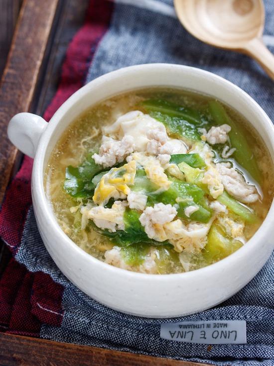 キャベツ親子スープ6