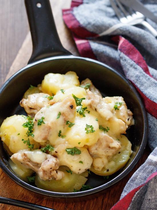 チキンとポテトのチーズ焼き1