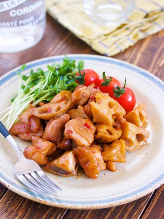 鶏肉レンコン甘辛11