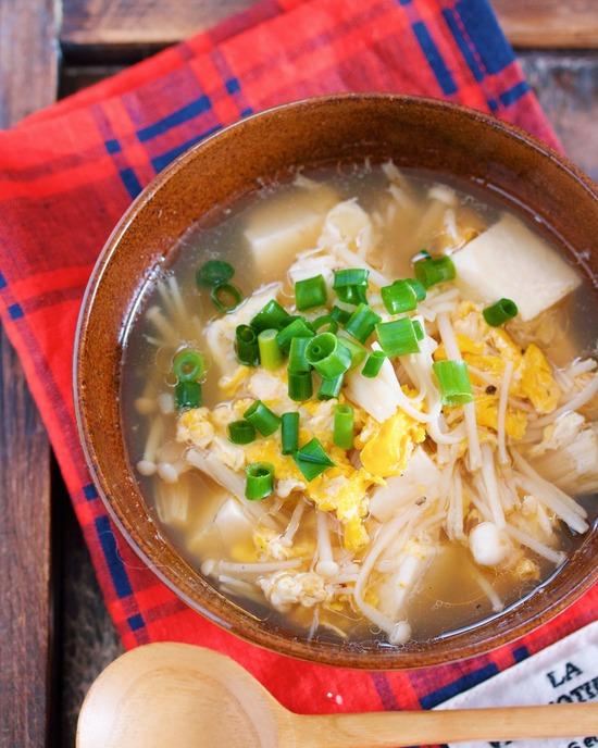 えのき豆腐スープ6