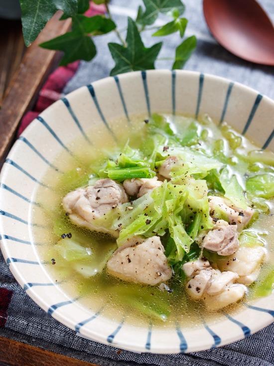 鶏キャベツスープ1