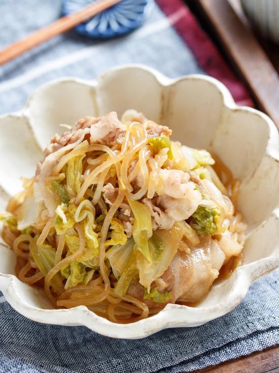 豚バラ白菜すき焼き2