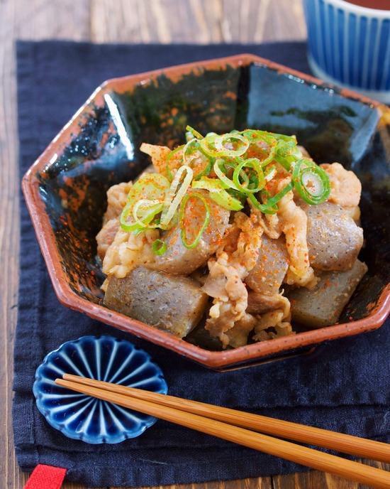 豚バラこんにゃく味噌9