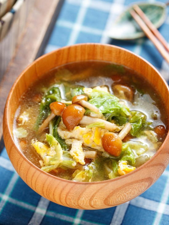 なめこかき玉スープ4