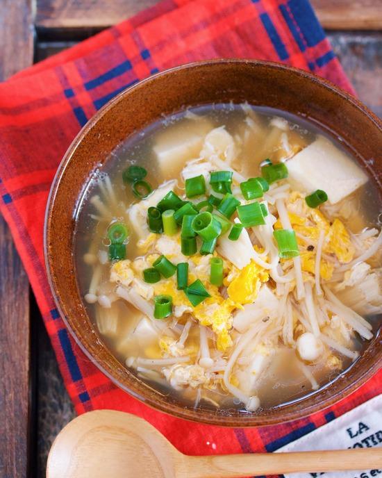 えのき豆腐スープ11