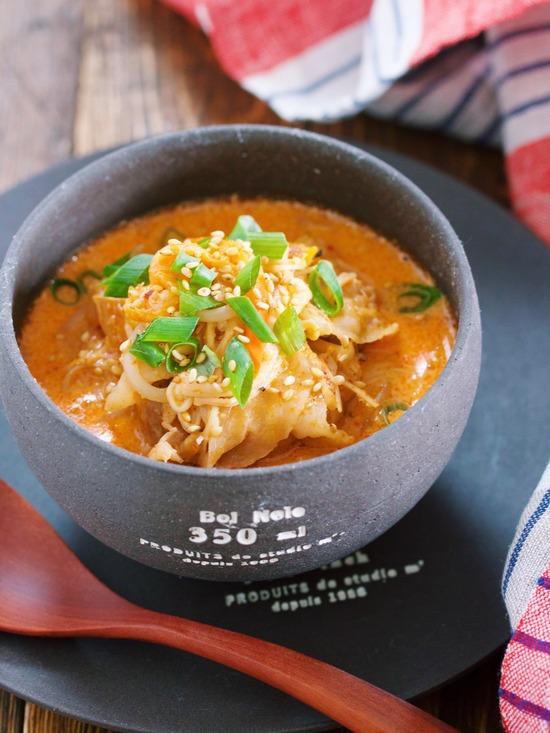 豆乳キムチスープ16