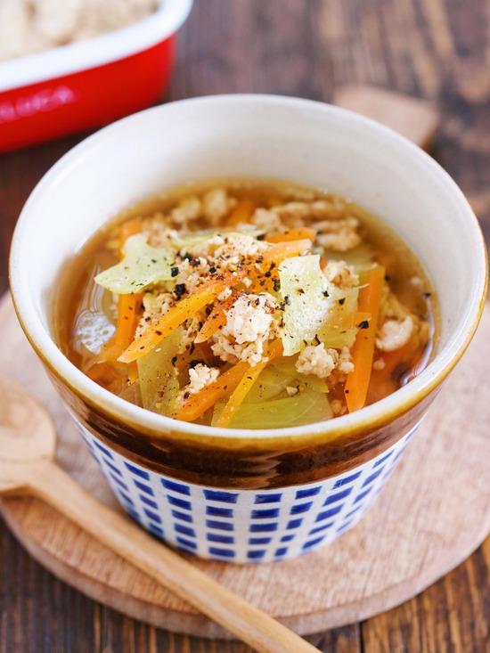 塩そぼろスープ
