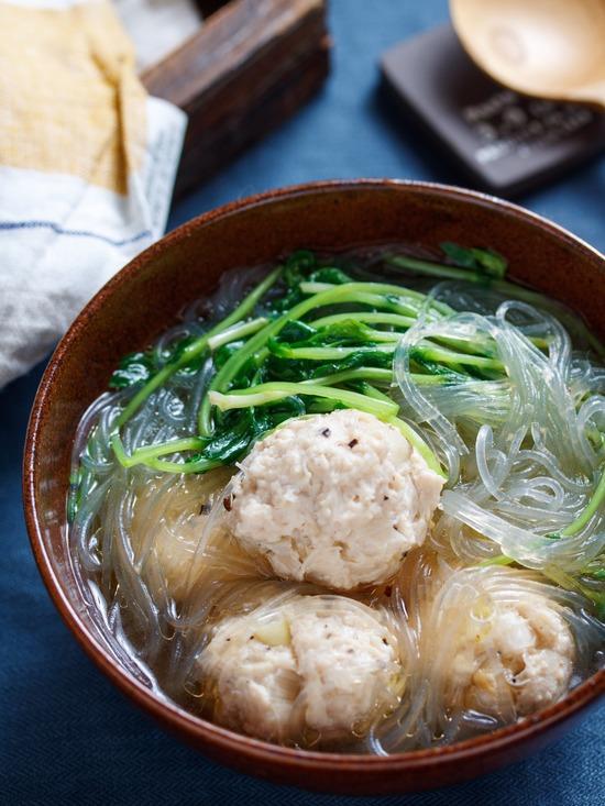 豆苗春雨スープ8