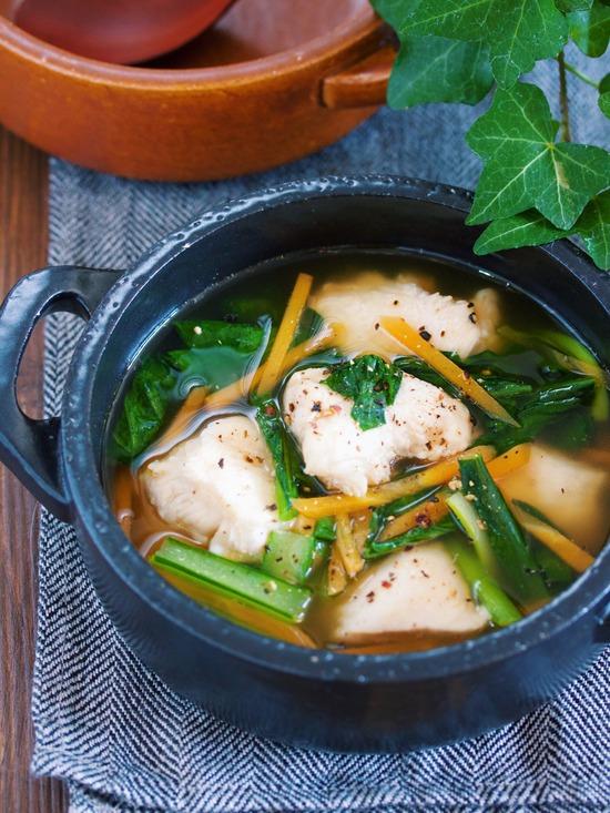 むね肉小松菜スープ8
