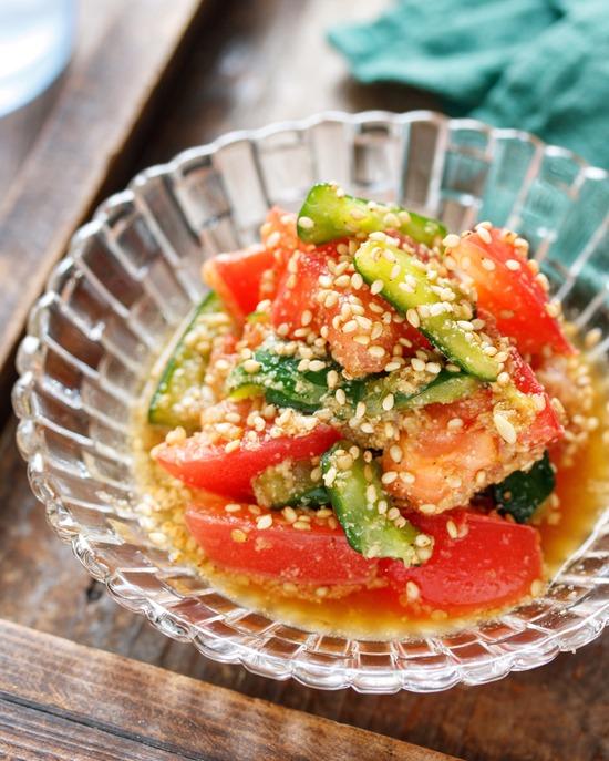 トマトきゅうり香味3