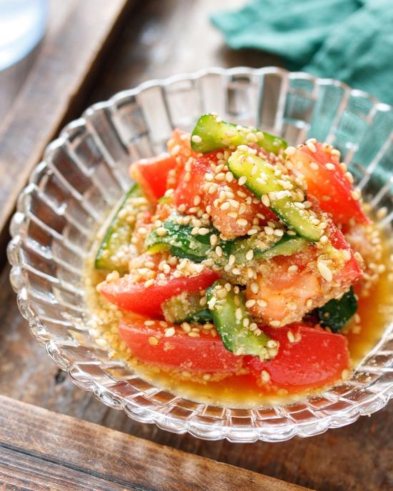トマトきゅうり香味2
