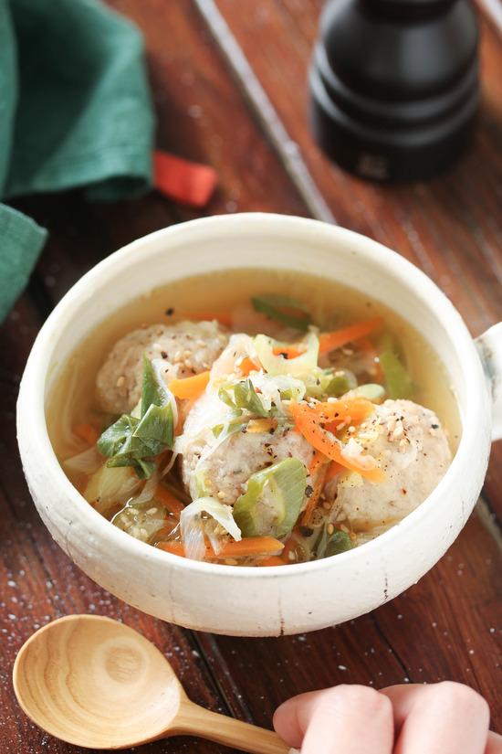 鶏団子ネギ塩スープ11