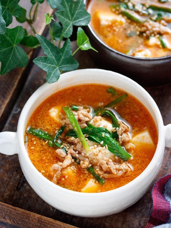 豆腐とひき肉のスープ5