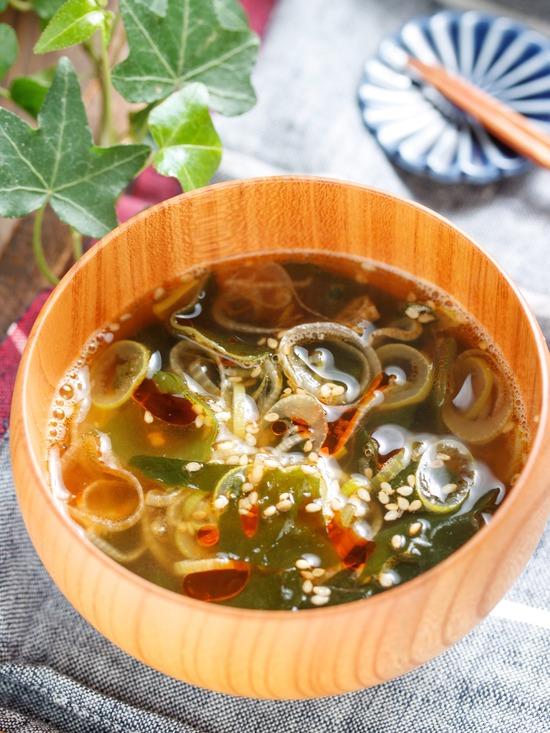 ねぎわかめスープ1