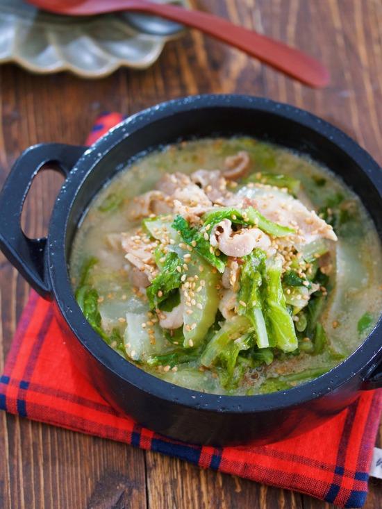 豚バラ白菜ごまみそスープ10
