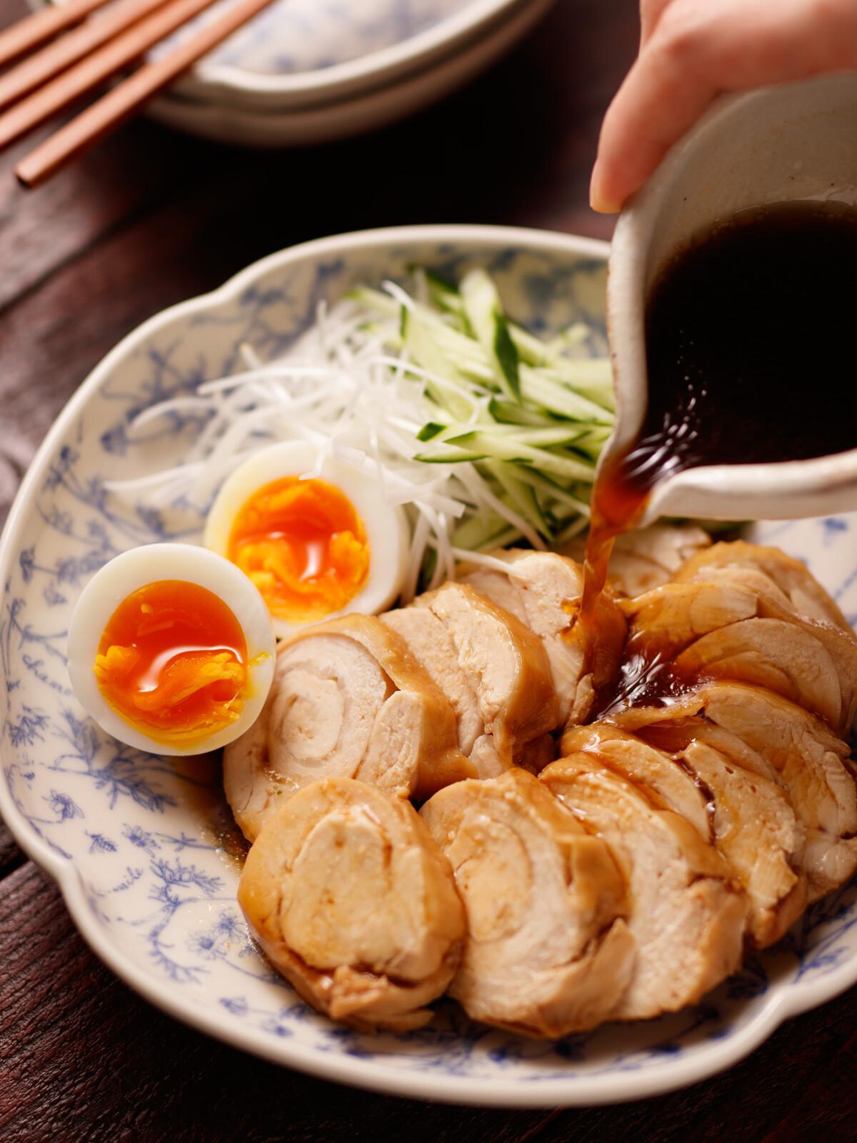 肉 チャーシュー 胸 鶏