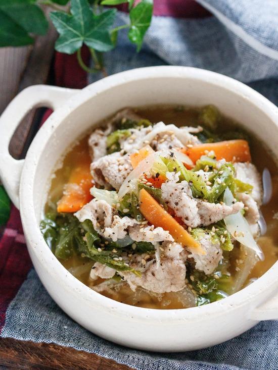 豚こま白菜スープ1