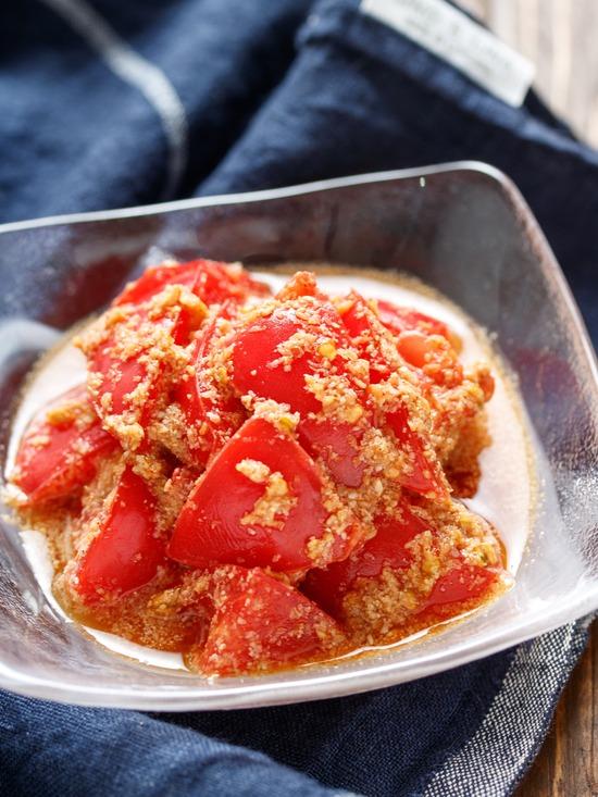 トマトごま和え3