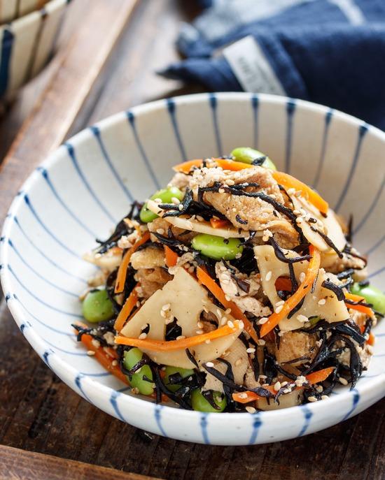 豆腐とひじきの煮物6