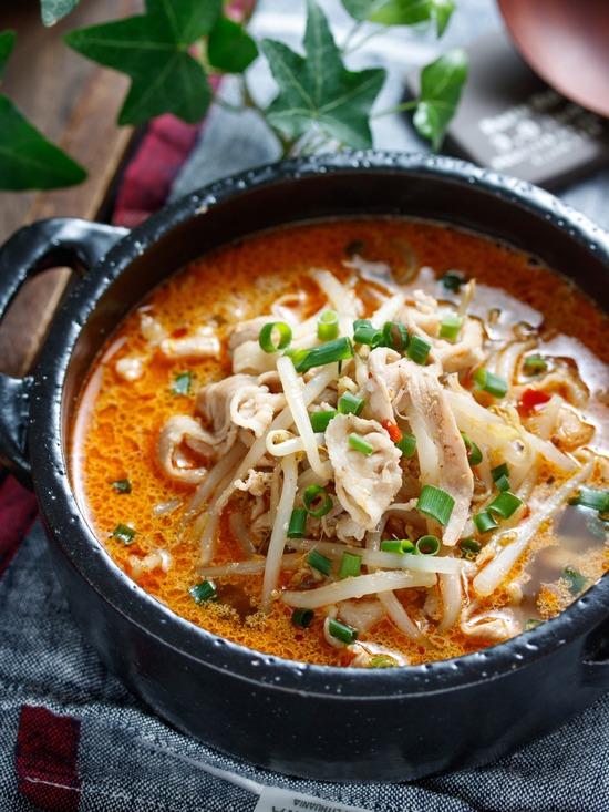 豚もやしピリ辛スープ5