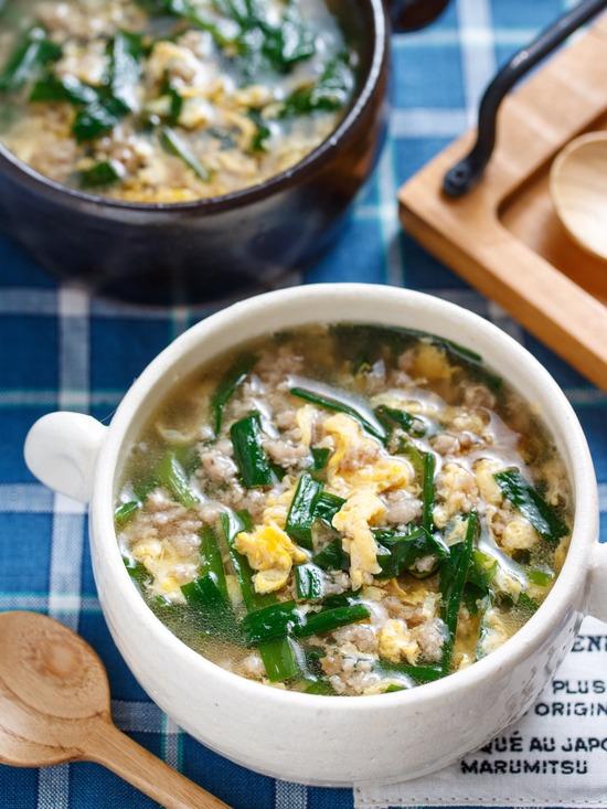ニラ玉スープ8