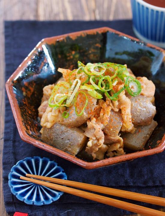 豚バラこんにゃく味噌4