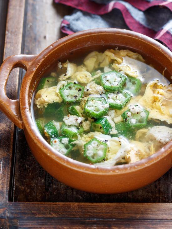 オクラ卵スープ7