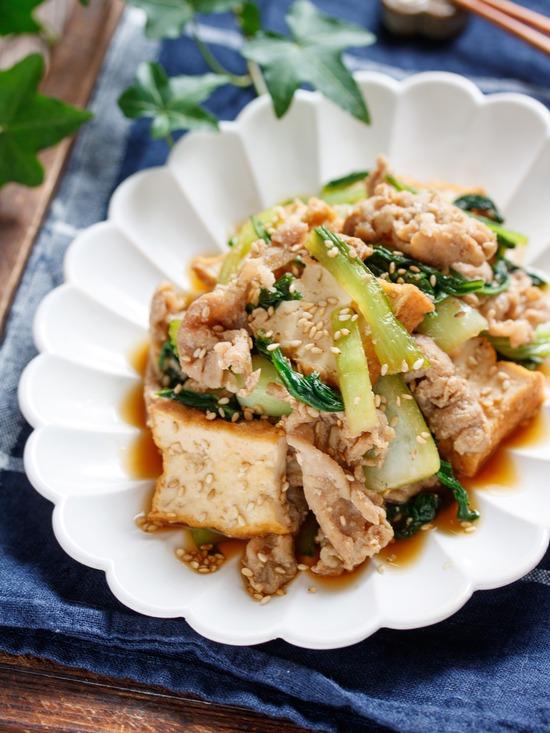 厚揚げ青梗菜2