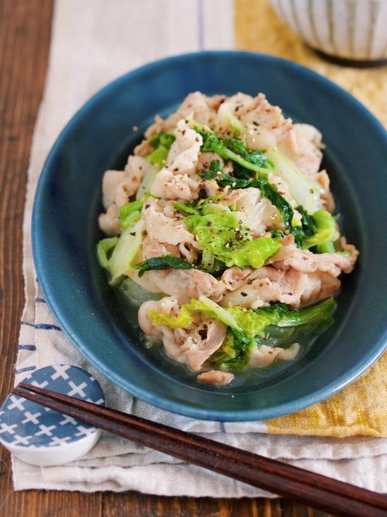 豚バラ白菜塩バター2