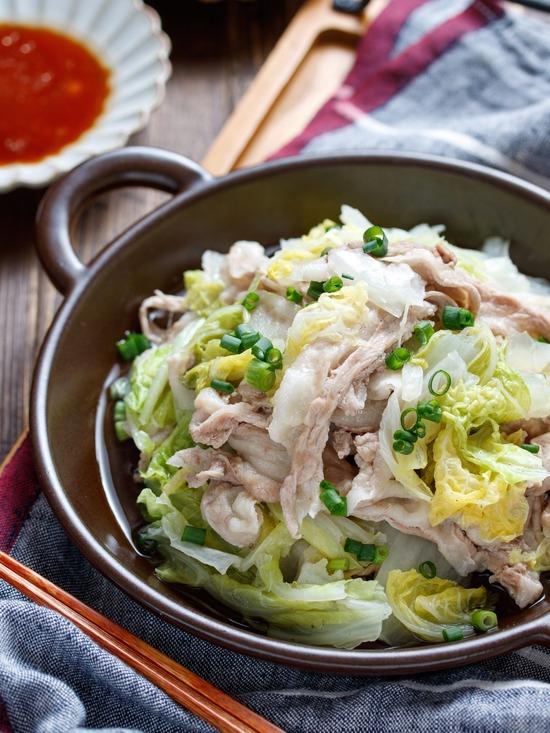 豚バラ白菜重ね蒸し7