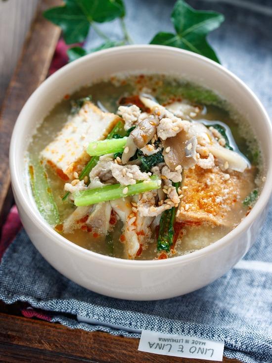 小松菜舞茸スープ4