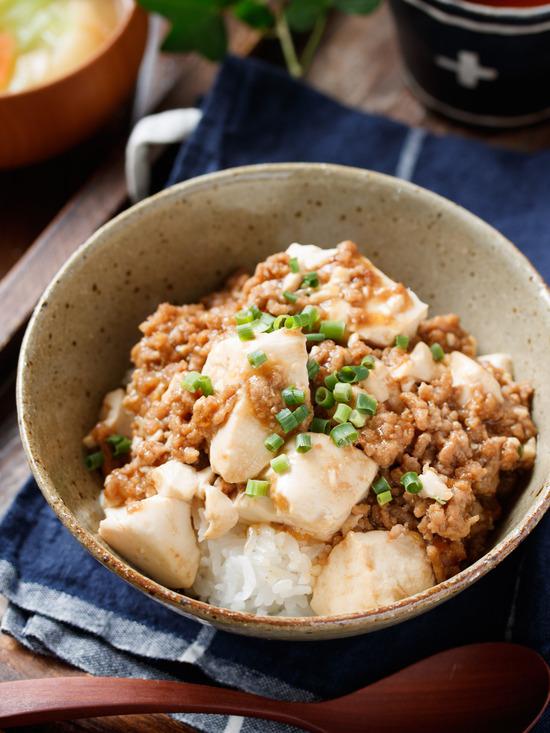 豆腐そぼろ丼1