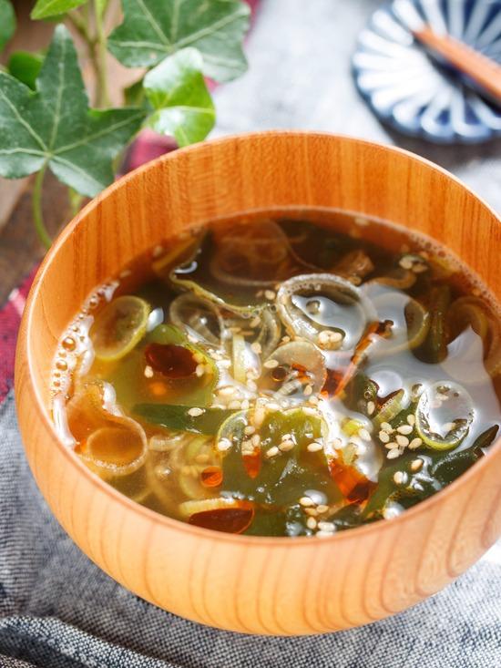 ねぎわかめスープ2
