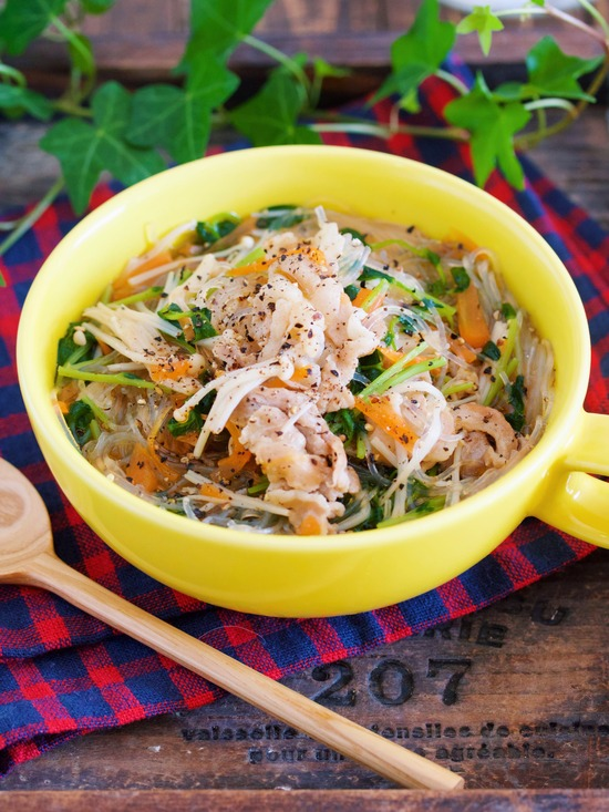 豆苗春雨スープ15